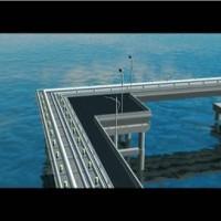 有特色的立交桥施工动画非四维水晶石莫属